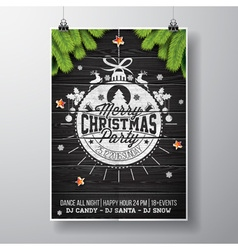 Christmas party with typography vector image vector image