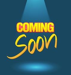 Coming soon logo poster vector