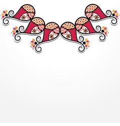 creative flora design vector image vector image