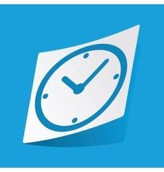 Clock sticker vector