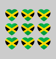 heart with jamaican flag i love jamaica vector image vector image