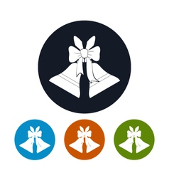 Icons holiday jingle bells vector