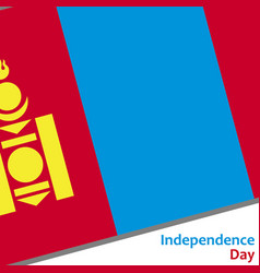 mongolia independence day vector image vector image