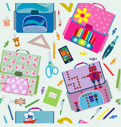 seamless school pattern vector image vector image