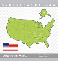 usa flag and map vector image vector image