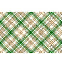 beige green white plaid seamless background vector image vector image