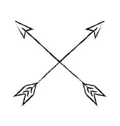 bow arrows crossed vector image