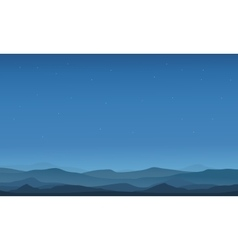 Desert landscape silhouettes vector image vector image