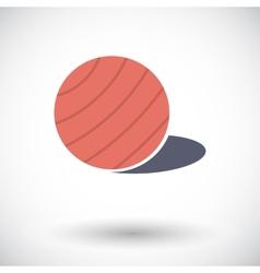 Fittball single icon vector image vector image