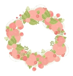 Floral wreath made of asters vector image