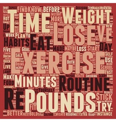 How To Stick To A Routine To Lose 10 Pounds text vector image vector image