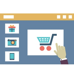 Internet shopping Order and delivery Flat style vector image vector image