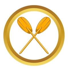 Paddles icon vector