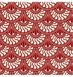 Red scales lace seamless pattern vector image vector image