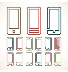 Smart phone abstract icons vector image