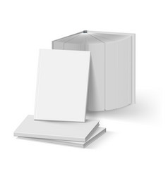 stack of blank gray books mockup template on vector image vector image