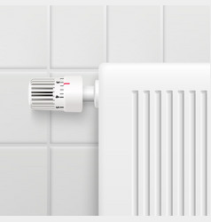 Temperature control knob realistic image vector