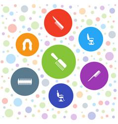 7 barbershop icons vector