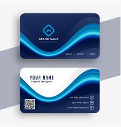 Abstract modern blue business card template design vector