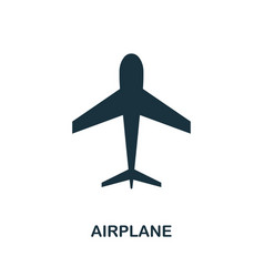 airplane icon in flat style icon design vector image