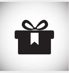 black friday gift on white background vector image