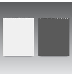 blank of spiral notebook template mock up vector image