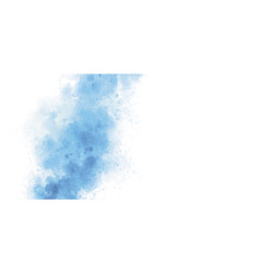 Blue watercolor on white background vector