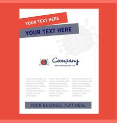 brain title page design for company profile vector image