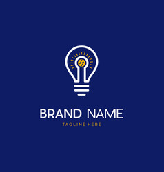 Bulb idea energy creative modern logo vector