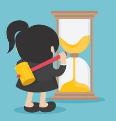 business woman time managementbusiness woman vector image