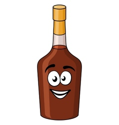 Cartoon bottle of alcohol or liqueur vector image