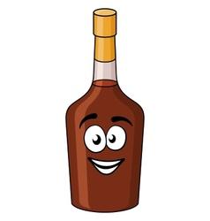 Cartoon bottle of alcohol or liqueur vector