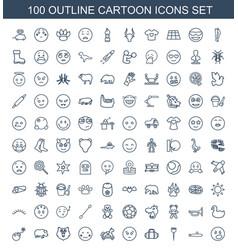 Cartoon icons vector