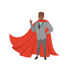 cheerful afro-american business man standing with vector image vector image