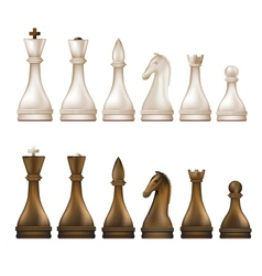 chess brown vector image