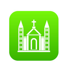 christian catholic church building icon digital vector image