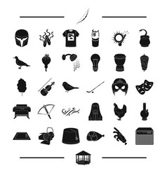 Cinema weather equipment and other web icon in vector