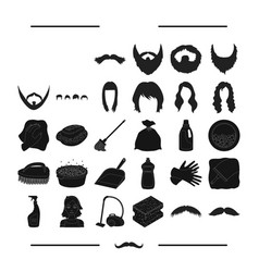Cleanliness salon hairdresser and other web icon vector