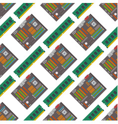 computer chip technology processor seamless vector image