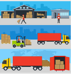 concept of services in delivery of goods loading vector image
