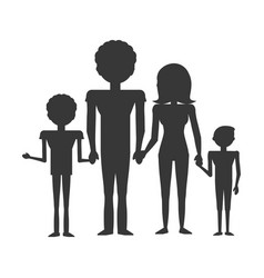 Couples family children vector