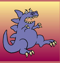 Cute big angry dinosaur vector