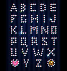 Diamond light pixel font vector