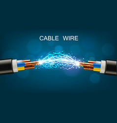 Electrical power cable copper wires and discharge vector