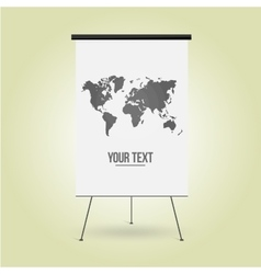 Empty Board for business presentation the website vector