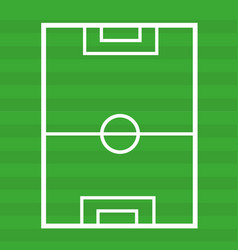 Football pitch icon on white background vector