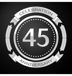 Forty five years anniversary celebration with vector