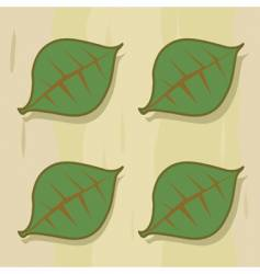 Four leaf panel vector