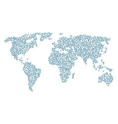 Global map mosaic of heterosexual symbol icons vector