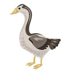 Goose icon cartoon style vector